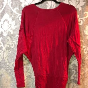 BCBG red ruched dress or oversized shirt